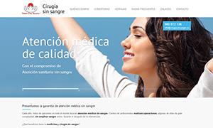 cirugiasinsangre.es - página web responsive