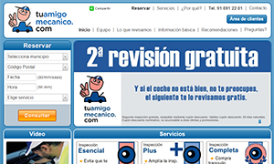tuamigomecanico.com - desarrollo a medida de portal web